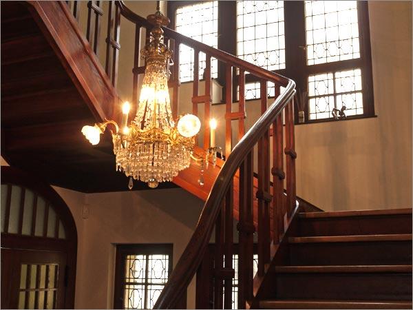 Historisches Treppenhaus Praxis Glass
